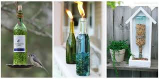 How To Plant A Garden In Your Backyard Wine Bottle Garden Crafts How To Use Recycled Bottles In Your Yard