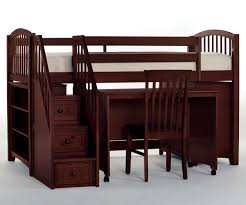 Low Loft Bunk Bed School House Cherry Finish Junior Store And Study Low Loft Bed
