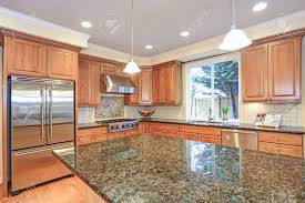 light wood kitchen cabinets with countertops luxury kitchen with kitchen island light wood cabinets fitted