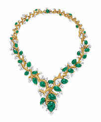 emerald gold necklace images An emerald diamond and gold necklace necklace diamond christie 39 s jpg
