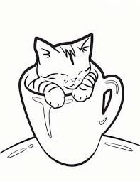 sleeping cat coloring page download free sleeping cat coloring