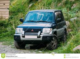 mitsubishi montero sport 2000 mitsubishi montero sport suv driving on off road in summer mount