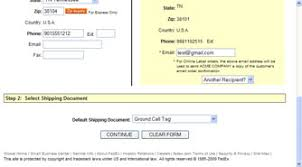 fedex return manager user guide create a fedex ground call tag order