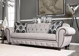 victorian modern furniture amazon com furniture of america bowie modern victorian tufted sofa