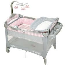 Pink And Brown Graco Pack N Play With Changing Table Graco Pack N Play Portable Playard Walmart