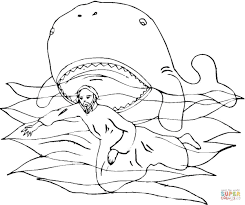 jonah whale bible story coloring pages kids coloring