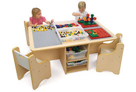 duplo table with storage tables with storage