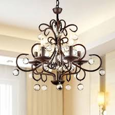 Crystal And Black Chandelier Dining Room Luxury Overstock Chandelier For Home Lighting Ideas