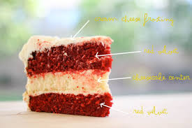 une deux senses red velvet cheesecake cake