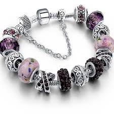 crystal charm bracelet beads images Murano glass and crystal charm bracelet jewelryrise jpg