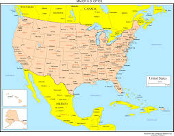 New York On Map Mjrcityc On Map Of Canada And United States With Cities World Maps