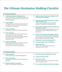 wedding checklist printable wedding checklist 9 free pdf documents
