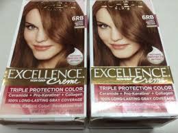 light reddish brown color 2 l oreal paris excellence creme hair color 6rb light reddish