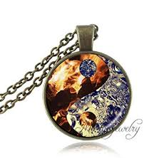 glass necklace pendants images Us design ying yang pendant necklace fire and water jewelry yin jpg