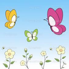 cartoon flowers and butterflies living room ideas