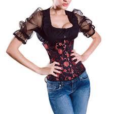bustier halloween costumes amazon com muka women black underbust corset waist cincher