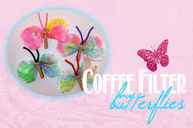 spring children u0027s craft coffee filter butterflies imperfect