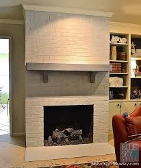 how to paint a brick fireplace u2022 fusion mineral paint