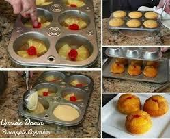 mini upside down pineapple cupcakes recipes pinterest