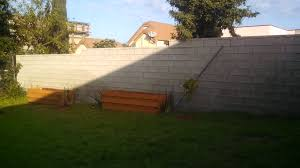 cinderblock wall inglewood craftsman home