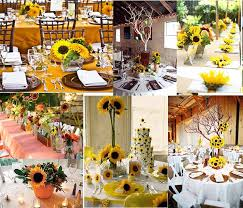 sunflower wedding decorations rustic wedding party sunflower wedding decoration archives
