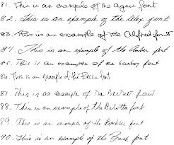 handwriting font samples