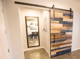 Salvaged Barn Doors by Multi Colored Sliding Barn Door Porter Barn Wood