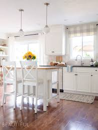 49 gorgeous modern farmhouse kitchens simple fall touches in our kitchen and mudroom a burst of beautiful