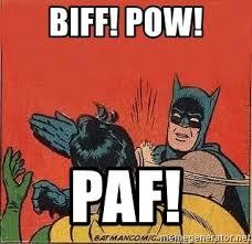 Batman Slapping Robin Meme - biff pow paf batman slap robin meme generator