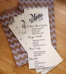 Diy Wedding Menu Cards Here Are Wedding Dinner Menu Ideas For Instant Inspiration From