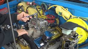 how to install an edelbrock carburetor on chevy 350 engine by