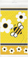 honey bee decorations for your home amazon com bumble bee plastic tablecloth 84