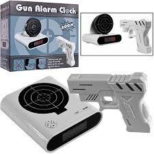 gun and target recordable alarm clock white walmart