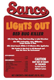 lights out bed bug killer sanitary supply company