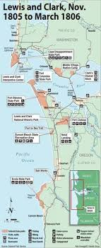 clark map lewis and clark trail map pbs history