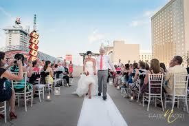vegas weddings fantastic rooftop poolside wedding in downtown vegas plaza hotel