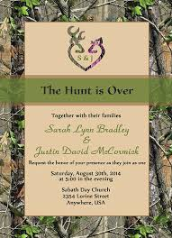 camouflage wedding invitations the hunt is wedding invitation sets camo deer deer heart