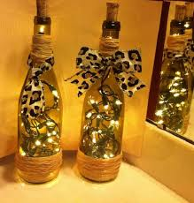how to decorate a wine bottle for a gift how to make decorative wine bottle lights without drilling 19