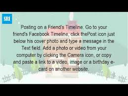 how do you send a birthday message on facebook youtube