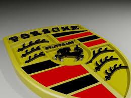 porsche logos 3d printable model porsche cars logo cgtrader