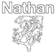 Coloriage Nathan à imprimer sur COLORIAGES info