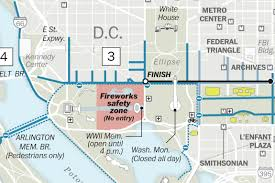 Washington Dc Monument Map by Road Closures Schedules And How To Get To D C On The Fourth Of