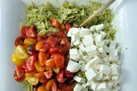 pasta salad pesto pesto pasta salad with heirloom tomatoes and mozzarella recipe on food52