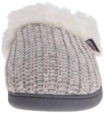 amazon com muk luks women u0027s pattern knit clog winter white