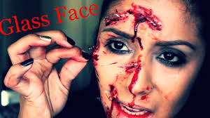 makeup artist halloween halloween makeup tutorial 2015 glass to the face sfx youtube