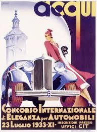 automobile concours car show advertisement by f romoli fine art