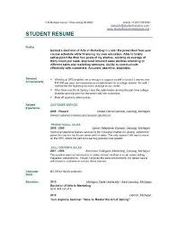 part time job resume template lukex co