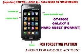 how to reset android phone reset samsung galaxy android mobile phone series