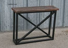 Industrial Console Table Mid Century Modern Vintage Industrial Console Table Side Table