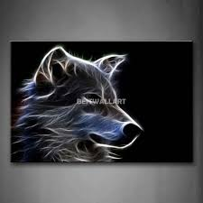 grey wolf 4 piece painting on canvas wall art picture print animal cheap paintings geisha buy quality oil painting cottage directly from china oil painitng suppliers size